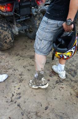 chiangmai-atv muddy shoes