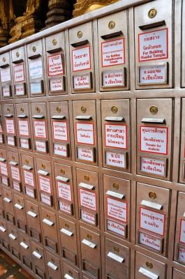 chiangmai-doi suthep donation box