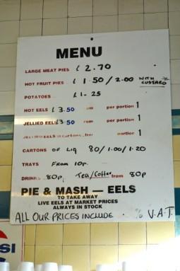 f cooke menu