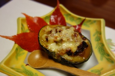 maruhachi ryokan - grilled pumpkin with cheese