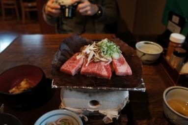 hida beef at shirakawago