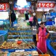 seoul - noryangjin market smiling lady