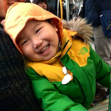 korean kid on otaru train