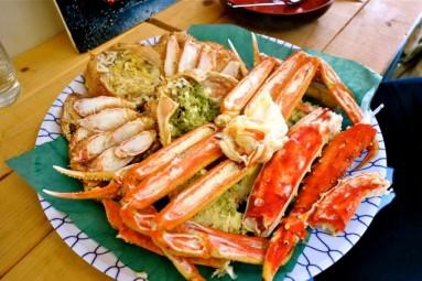steamed crab - nijo market sapporo