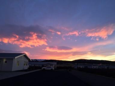 sunset - Ásborgir Iceland